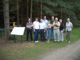 FoTF Volunteers at the opening of the Goshawk Trail