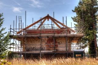 Mildenhall Warren Lodge mid restoration