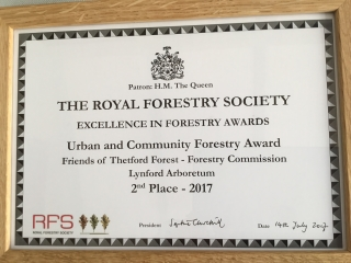 Royal Forestry Society (RFS) 2017 Urban and Community Forestry Awards Certificate